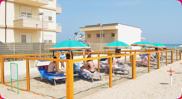 bagni spiaggia 55 e 56 misano area attrezzata per cani spiaggia misano